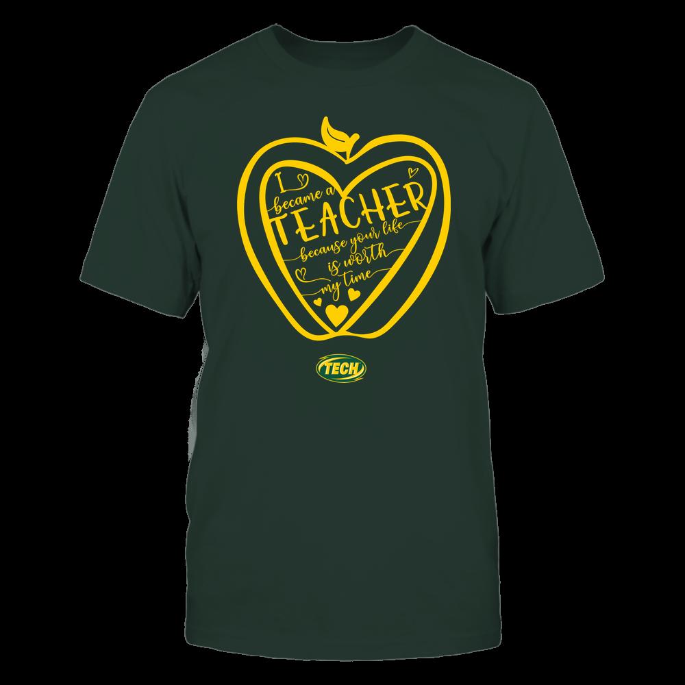 Arkansas Tech Golden Suns - Teacher - Heart in Apple Front picture