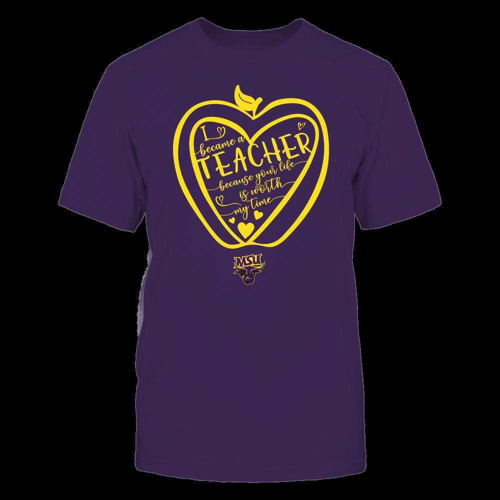 Minnesota State Mavericks - Teacher - Heart in Apple Front picture