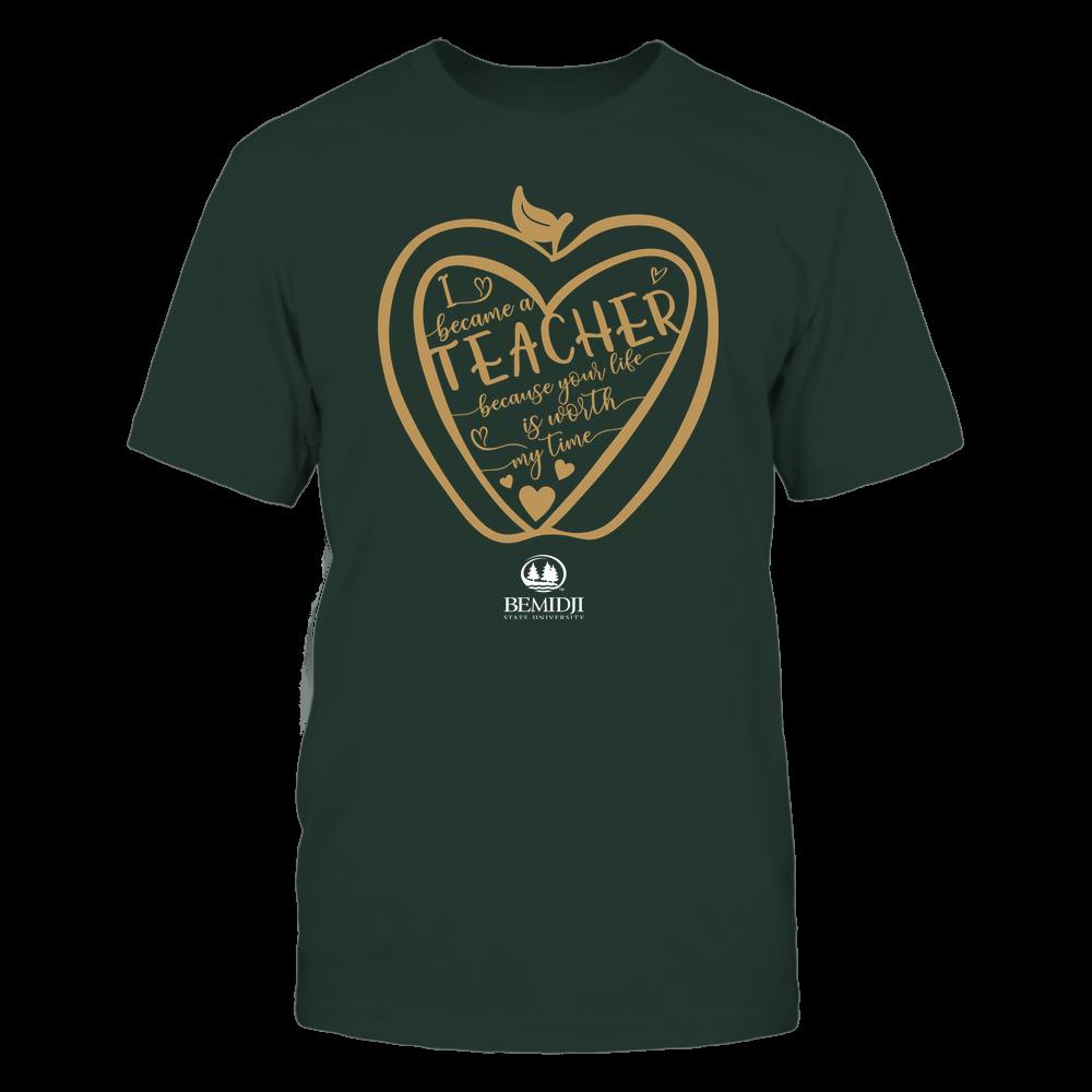 Bemidji State Beavers - Teacher - Heart in Apple Front picture