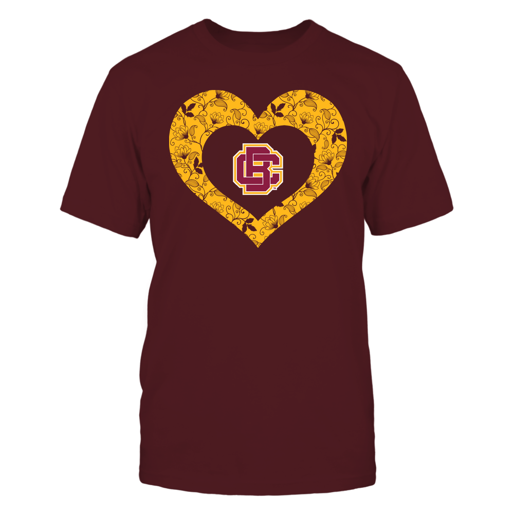 Bethune-Cookman Wildcats - Heart Flower - Seamless Pattern Front picture