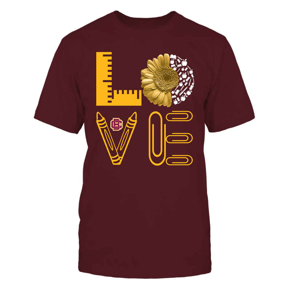 Bethune-Cookman Wildcats - Teacher - Stacked Love - Half Daisy Teacher Things Front picture