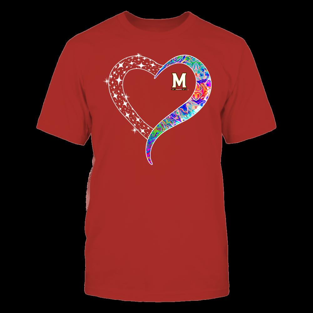 Maryland Terrapins - Half Heart - Rainbow Swirl Front picture