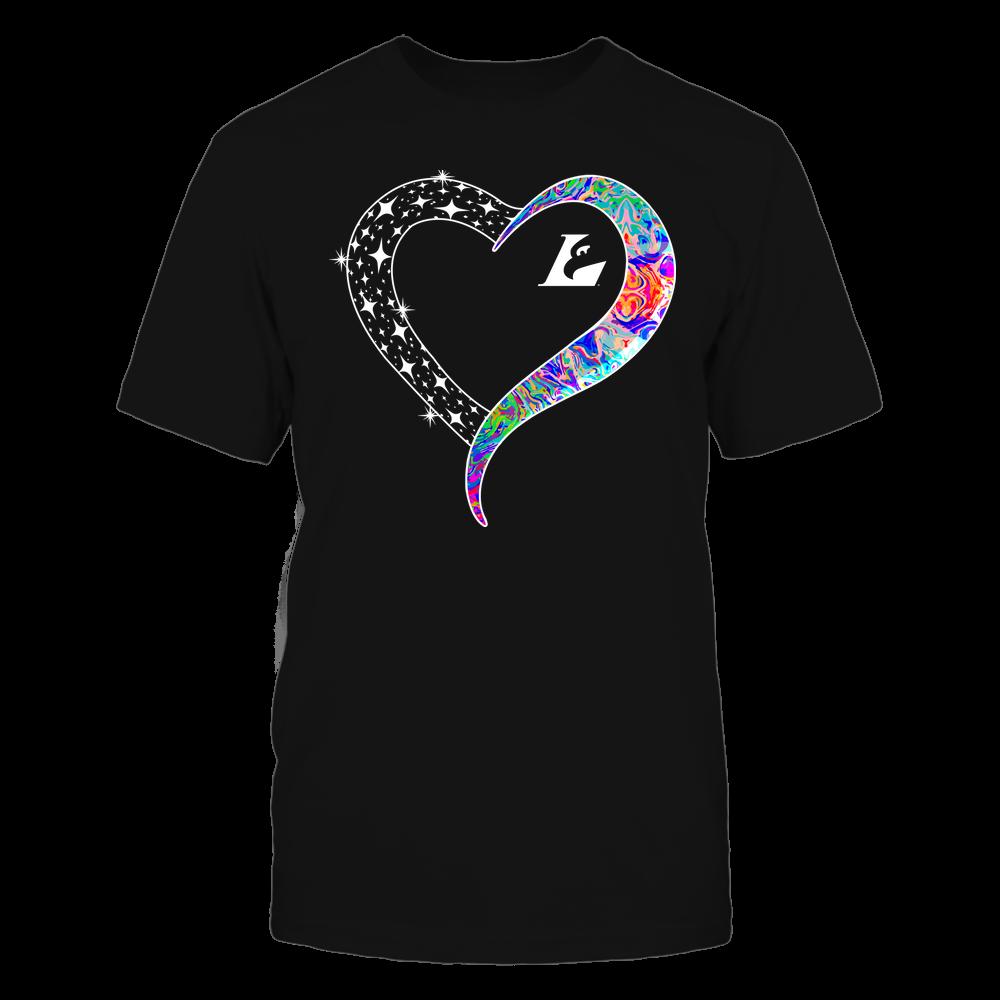 Wisconsin-La Crosse Eagles - Half Heart - Rainbow Swirl Front picture