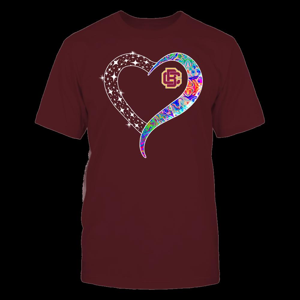 Bethune-Cookman Wildcats - Half Heart - Rainbow Swirl Front picture