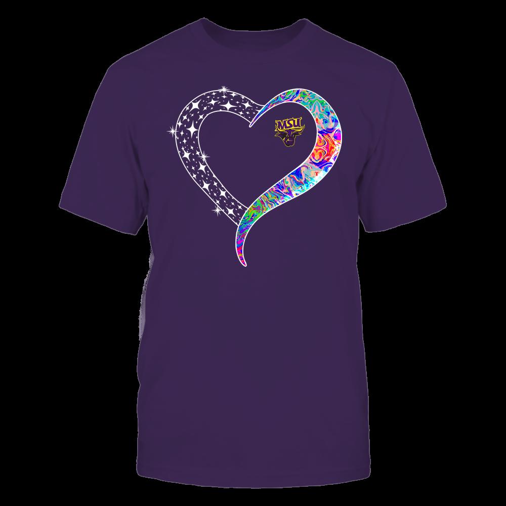 Minnesota State Mavericks - Half Heart - Rainbow Swirl Front picture