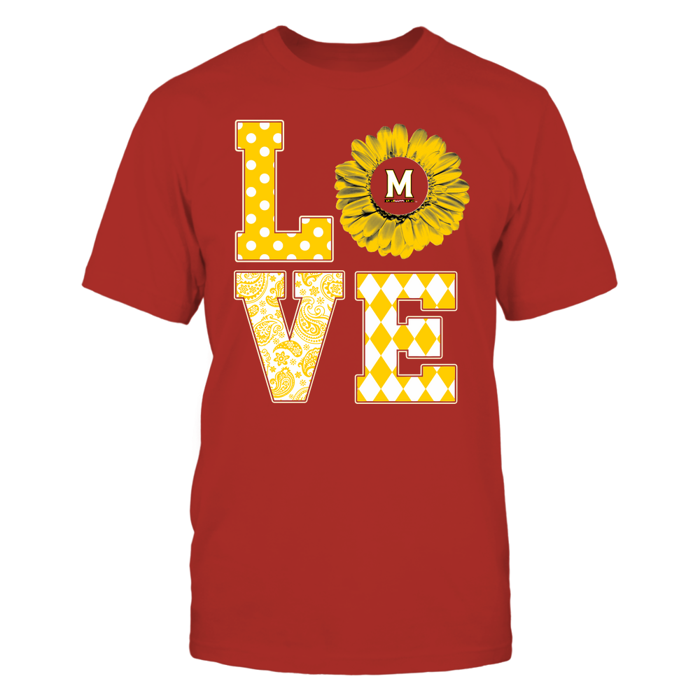 Maryland Terrapins - Stacked Love Pattern - Daisy Front picture