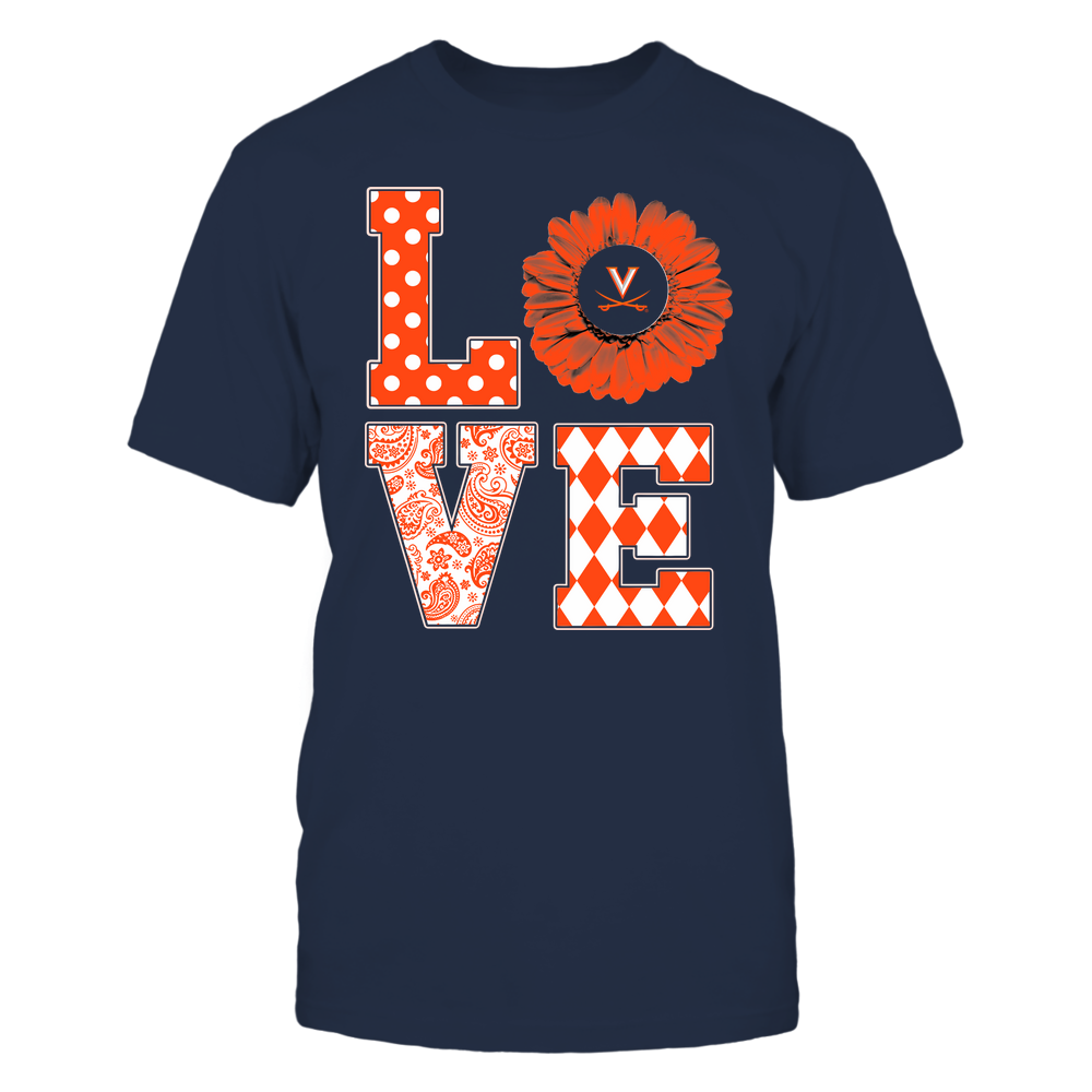 Virginia Cavaliers - Stacked Love Pattern - Daisy Front picture