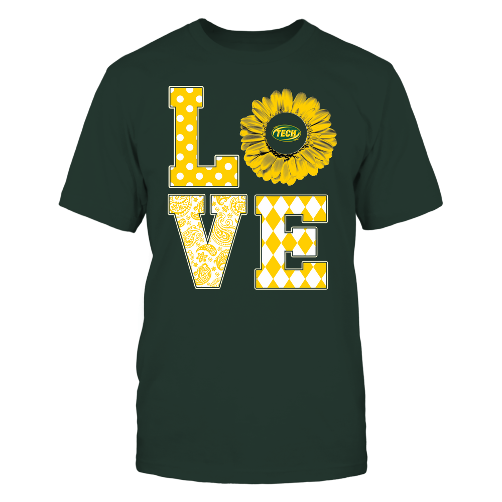 Arkansas Tech Golden Suns - Stacked Love Pattern - Daisy Front picture