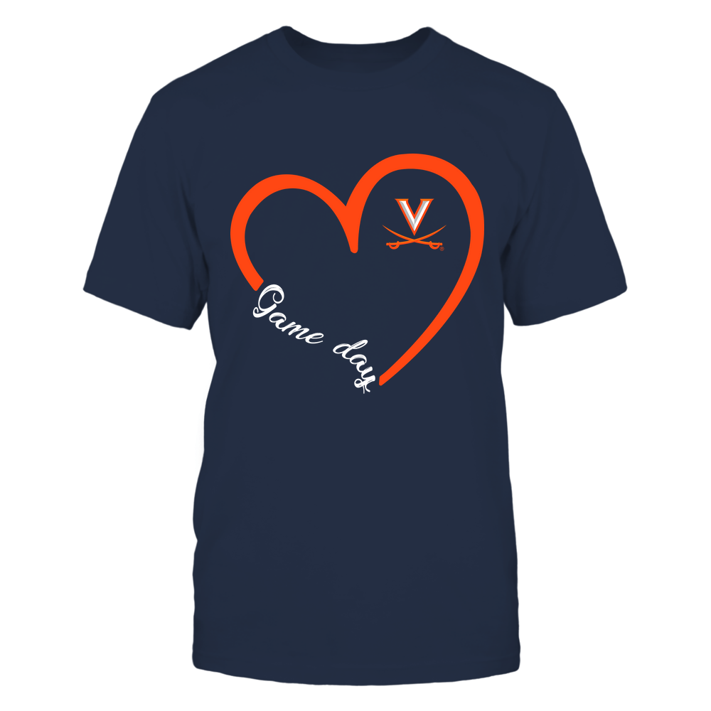 Virginia Cavaliers - Heart 3/4 - Game Day Front picture