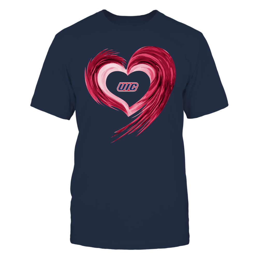 UIC Flames - Heart on Fire Front picture