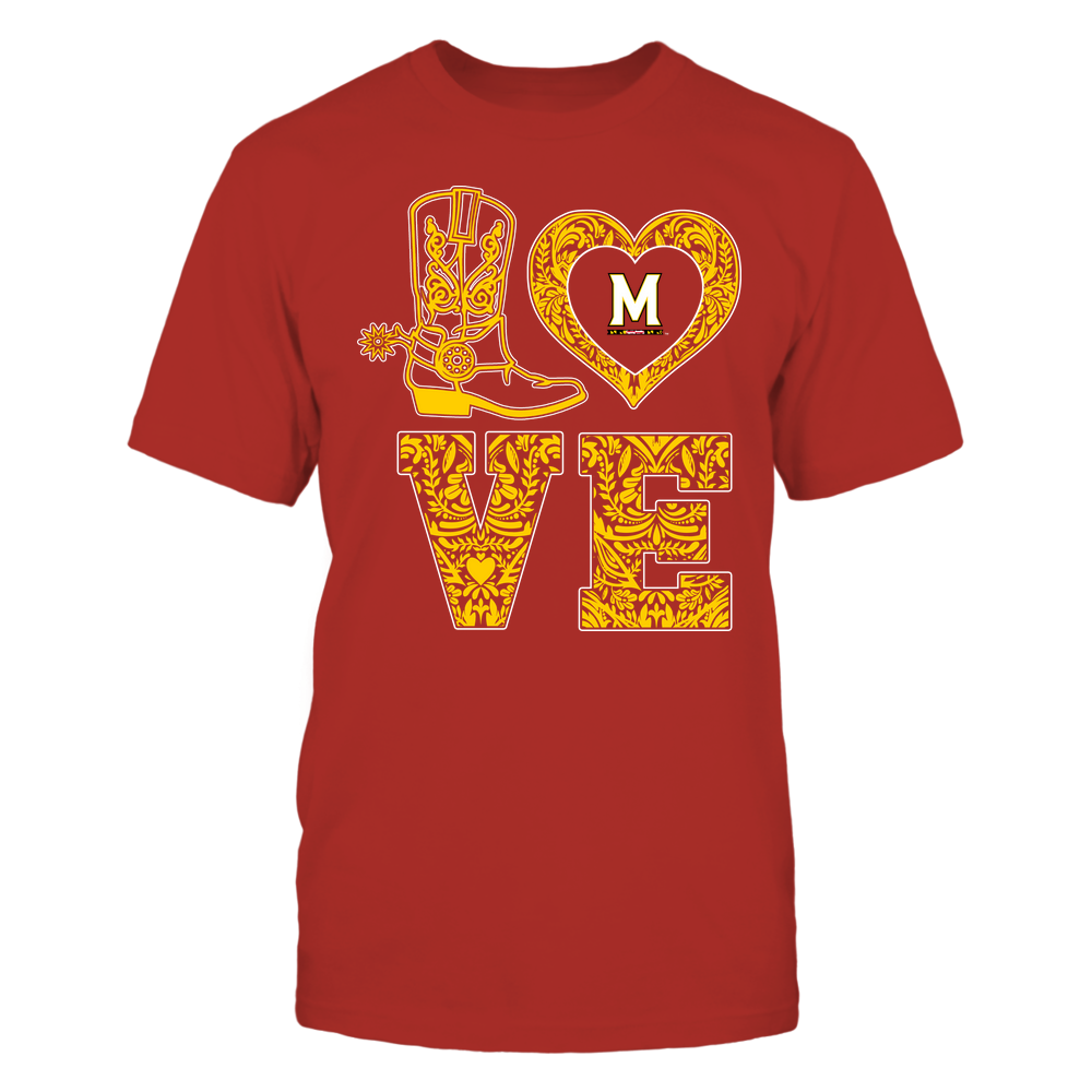Maryland Terrapins - Stacked Love - Lace Heart Front picture