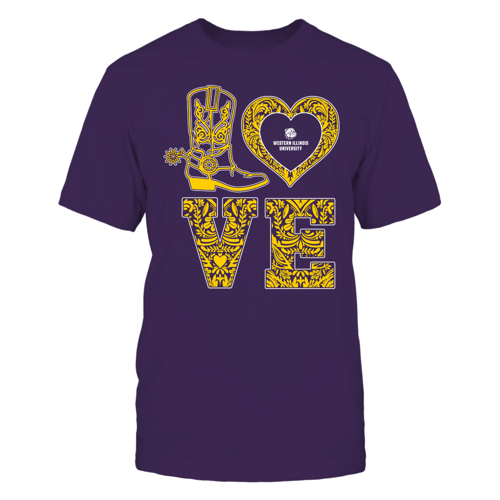 Western Illinois Leathernecks - Stacked Love - Lace Heart Front picture