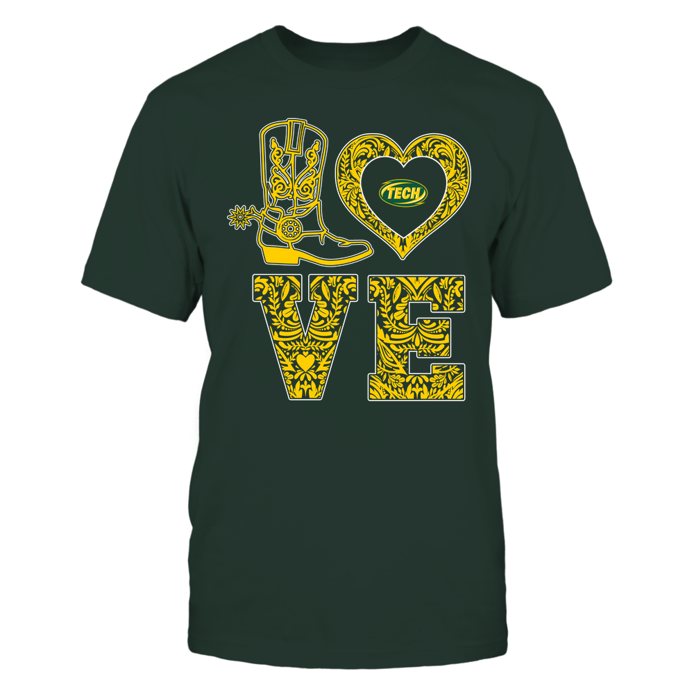 Arkansas Tech Golden Suns - Stacked Love - Lace Heart Front picture