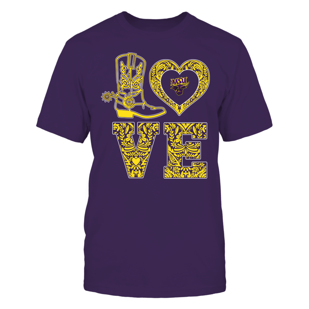 Minnesota State Mavericks - Stacked Love - Lace Heart Front picture