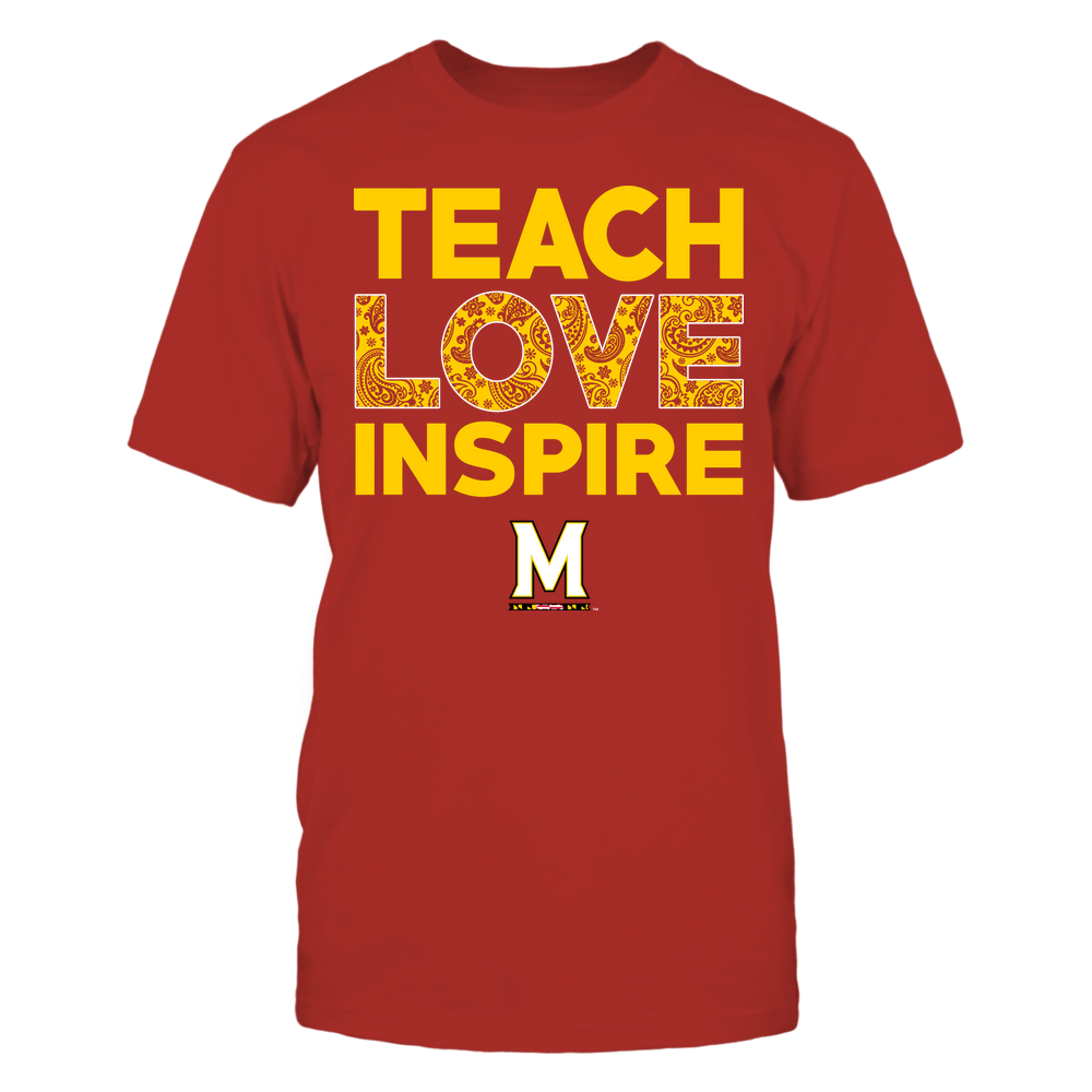 Maryland Terrapins - Teach Love Inspire - Paisley Pattern Front picture