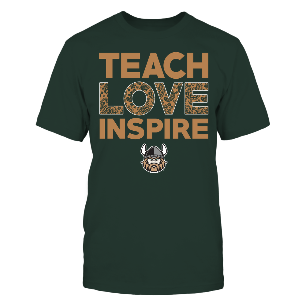 Cleveland State Vikings - Teach Love Inspire - Paisley Pattern Front picture