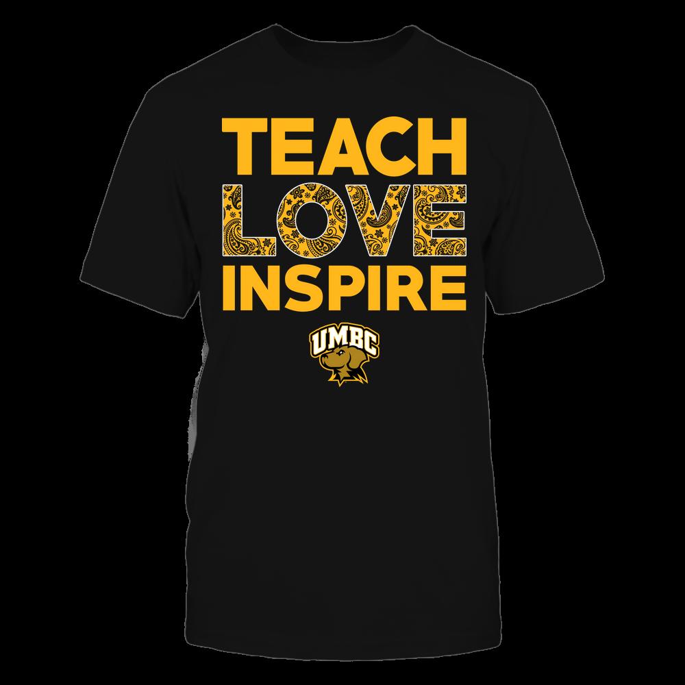 UMBC Retrievers - Teach Love Inspire - Paisley Pattern Front picture