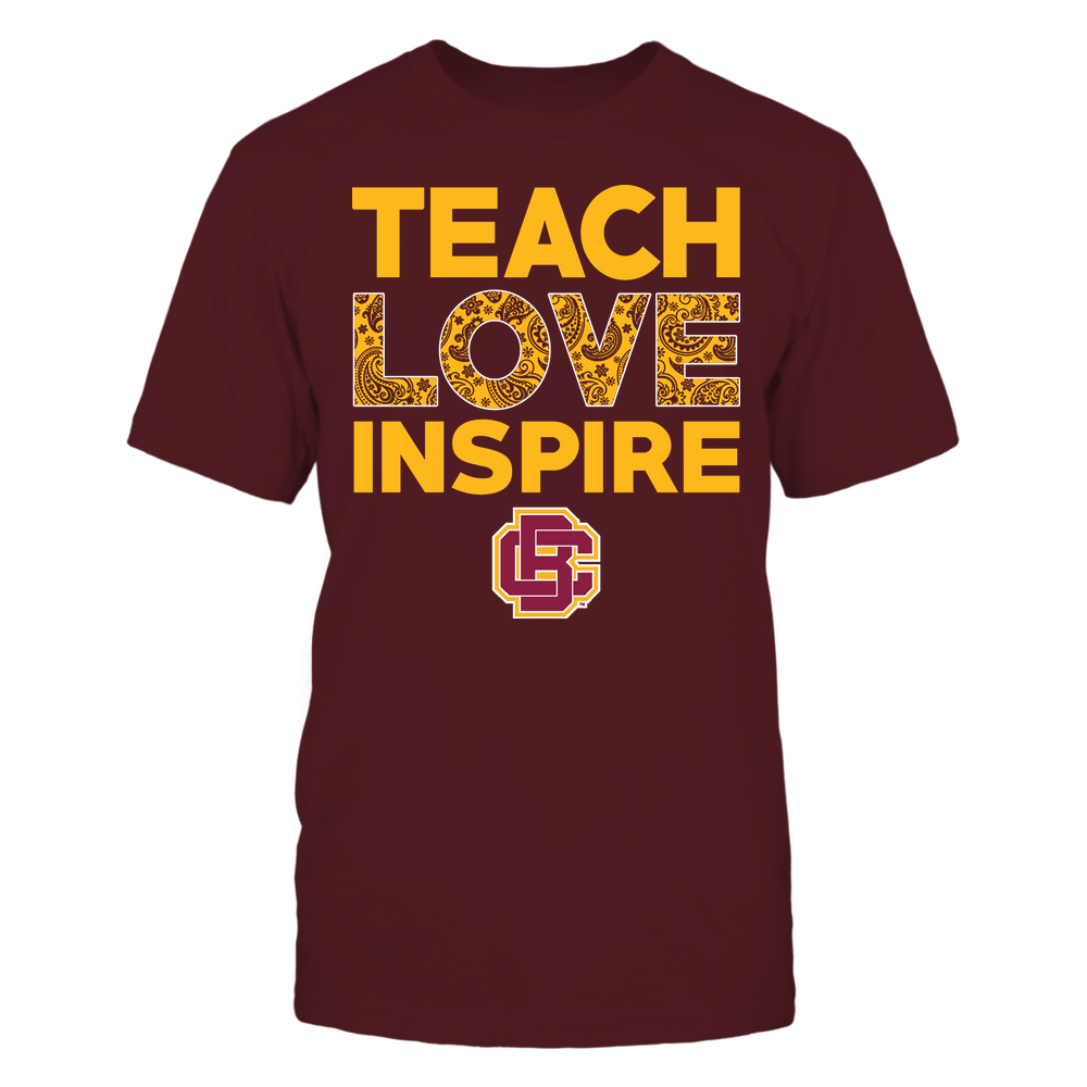Bethune-Cookman Wildcats - Teach Love Inspire - Paisley Pattern Front picture