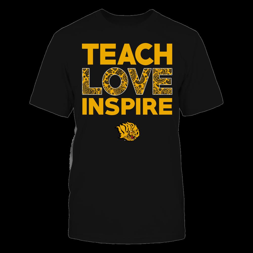 Arkansas Pine Bluff Golden Lions - Teach Love Inspire - Paisley Pattern Front picture