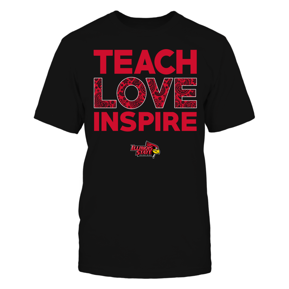 Illinois State Redbirds - Teach Love Inspire - Paisley Pattern Front picture