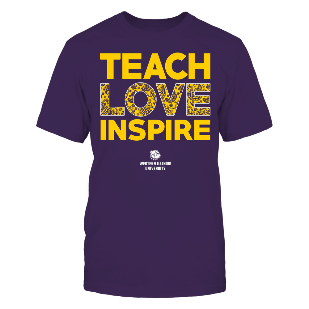 Western Illinois Leathernecks - Teach Love Inspire - Paisley Pattern Front picture
