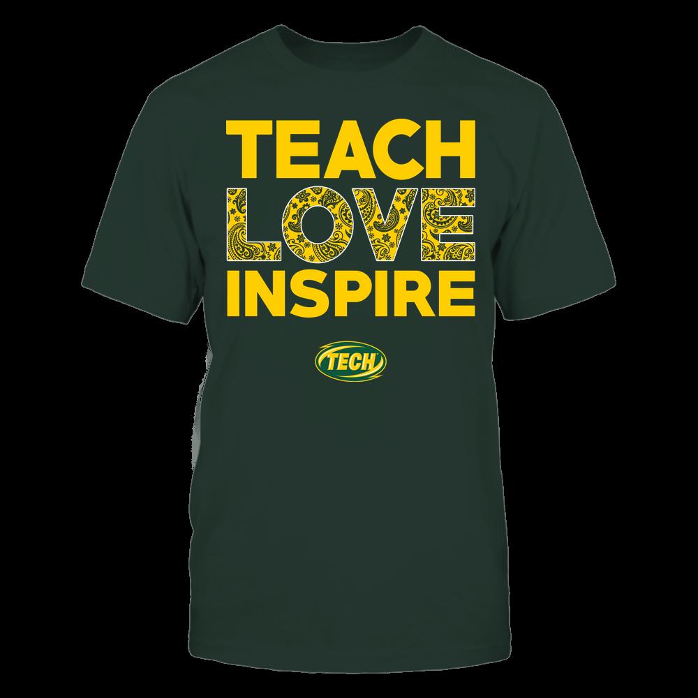Arkansas Tech Golden Suns - Teach Love Inspire - Paisley Pattern Front picture