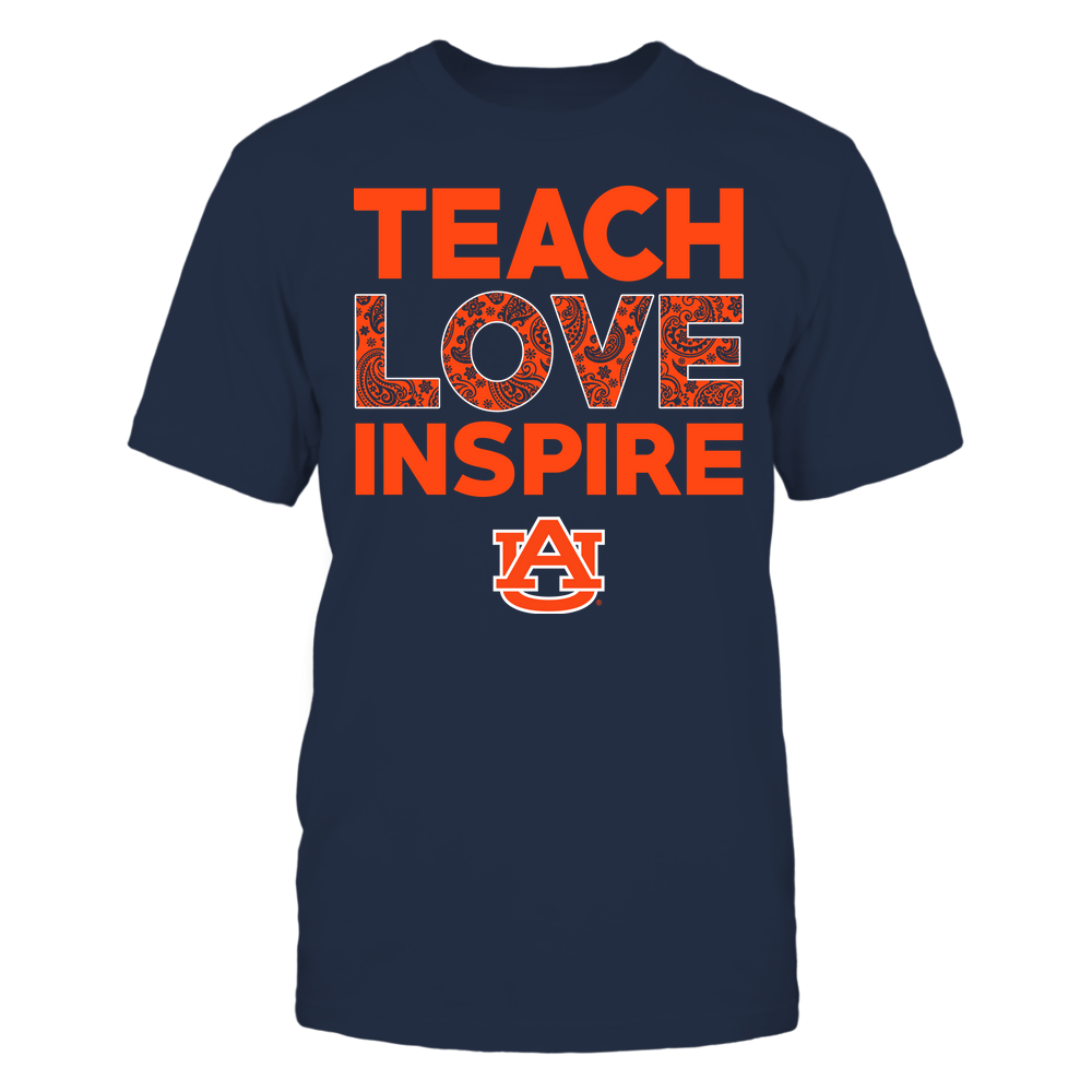 Auburn Tigers - Teach Love Inspire - Paisley Pattern Front picture