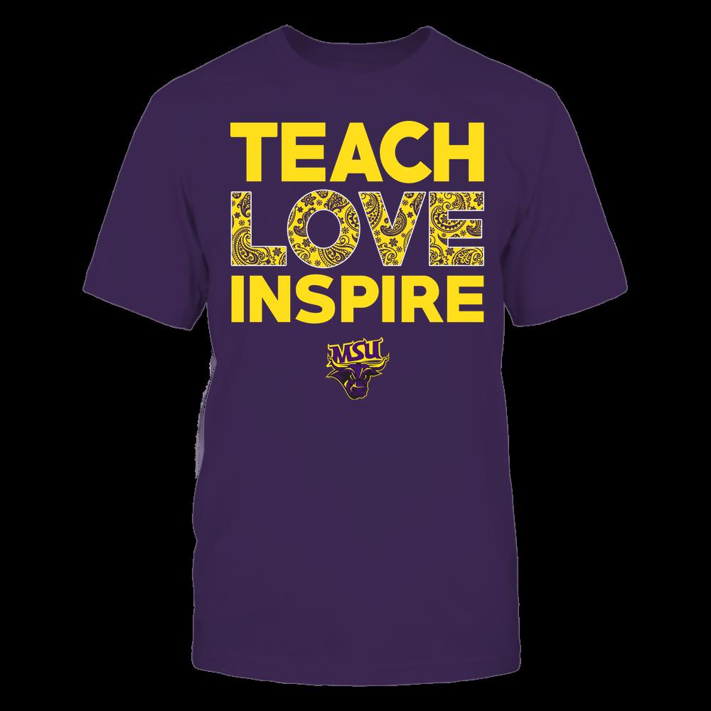 Minnesota State Mavericks - Teach Love Inspire - Paisley Pattern Front picture