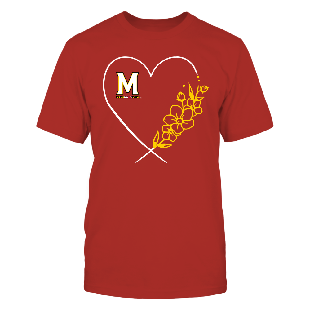 Maryland Terrapins - Heart Flower Front picture