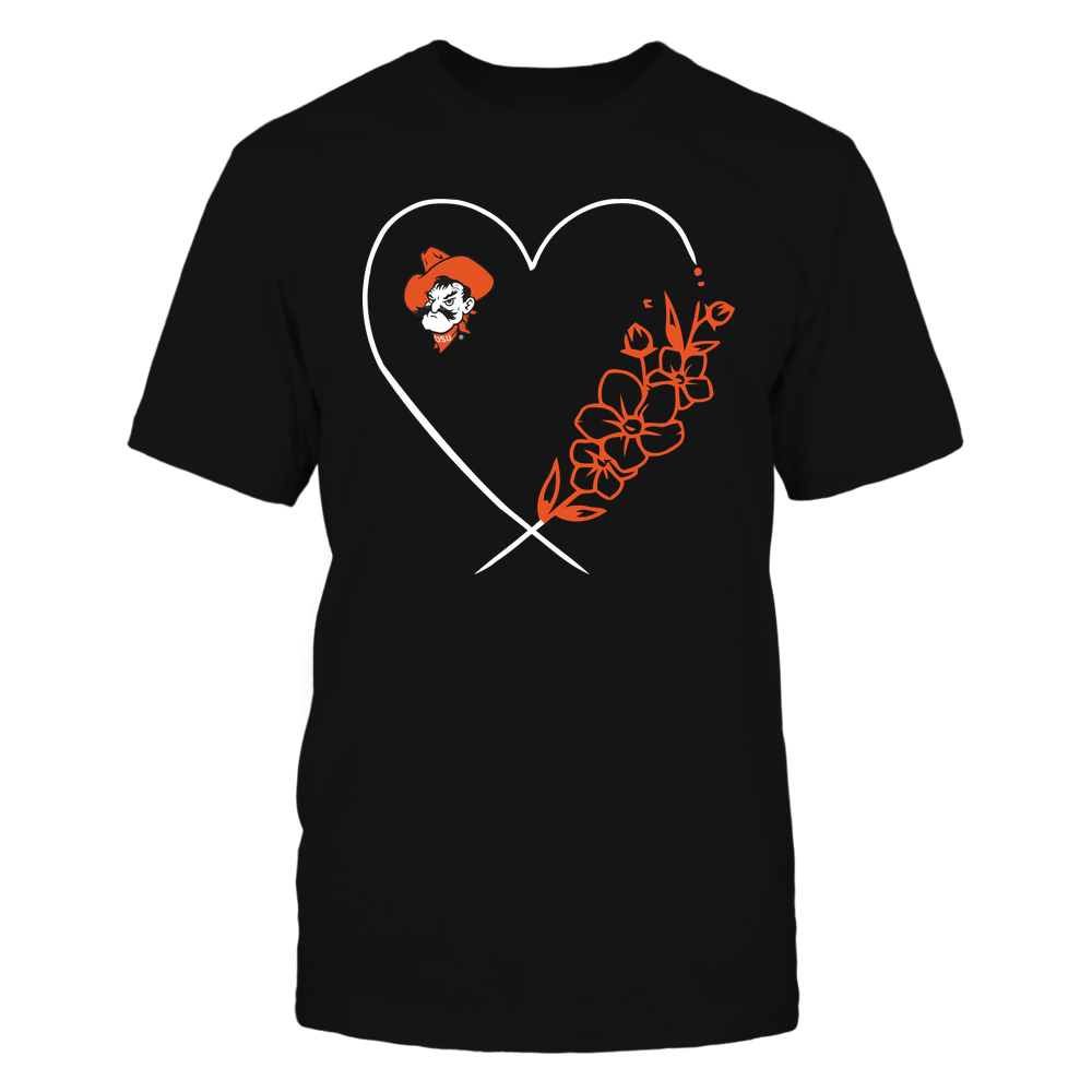 Oklahoma State Cowboys - Heart Flower Front picture