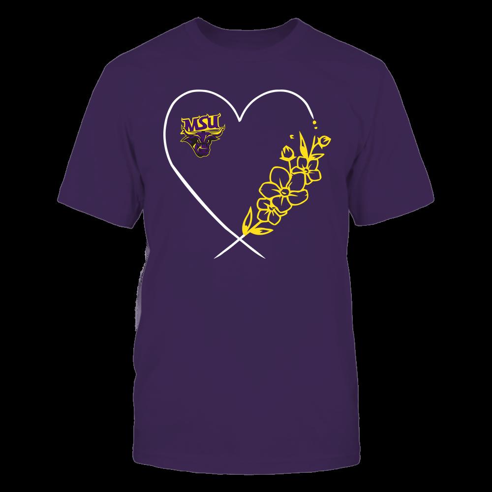 Minnesota State Mavericks - Heart Flower Front picture