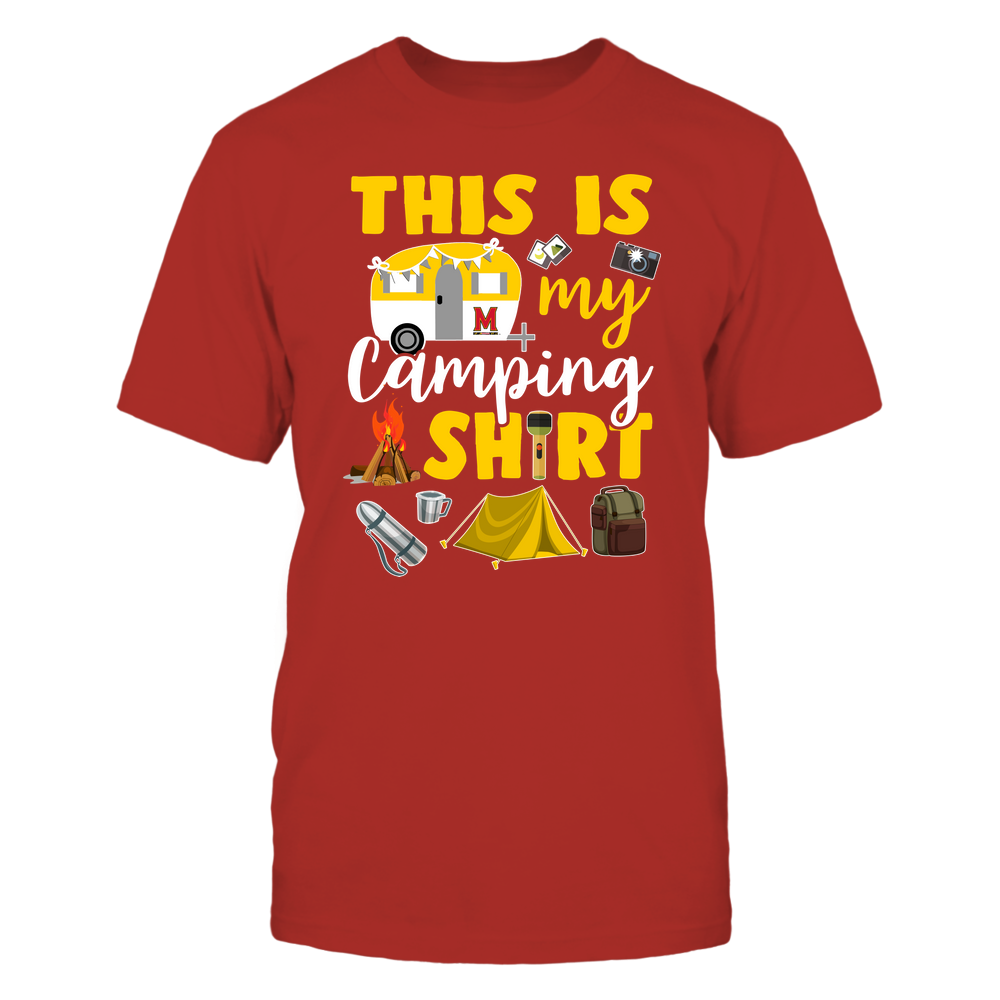 Maryland Terrapins - This Is My Camping Shirt Front picture