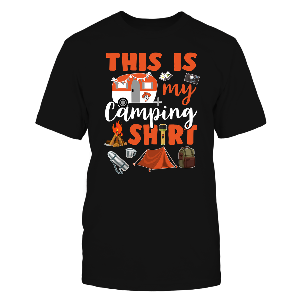 Oklahoma State Cowboys - This Is My Camping Shirt Front picture