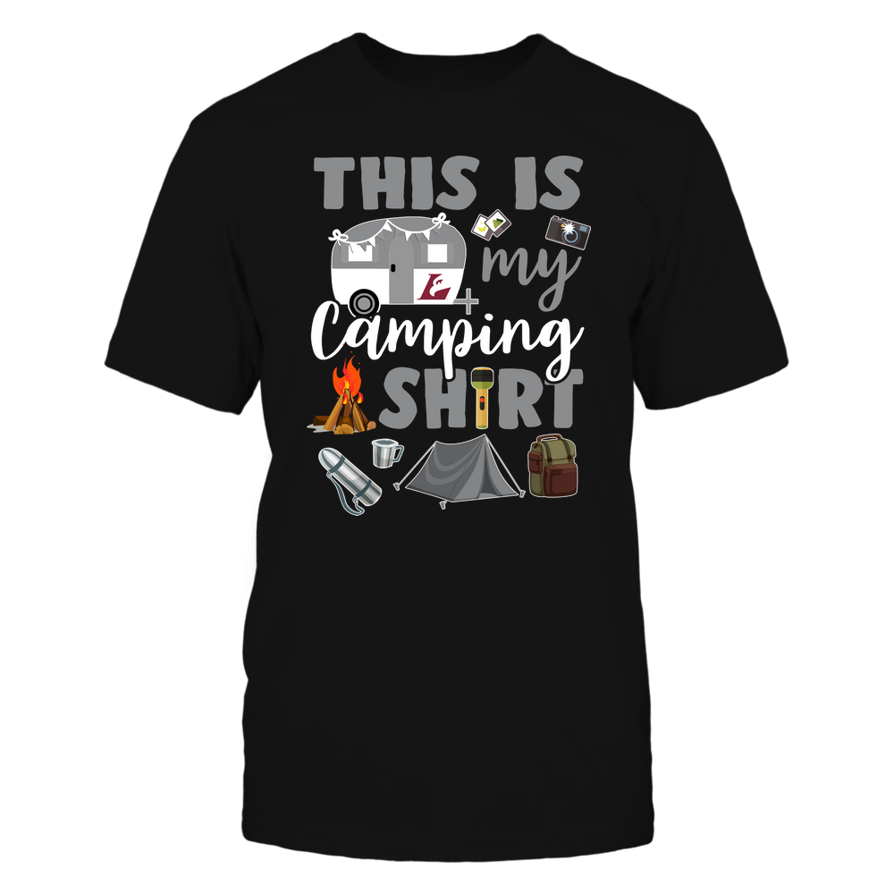 Wisconsin-La Crosse Eagles - This Is My Camping Shirt Front picture