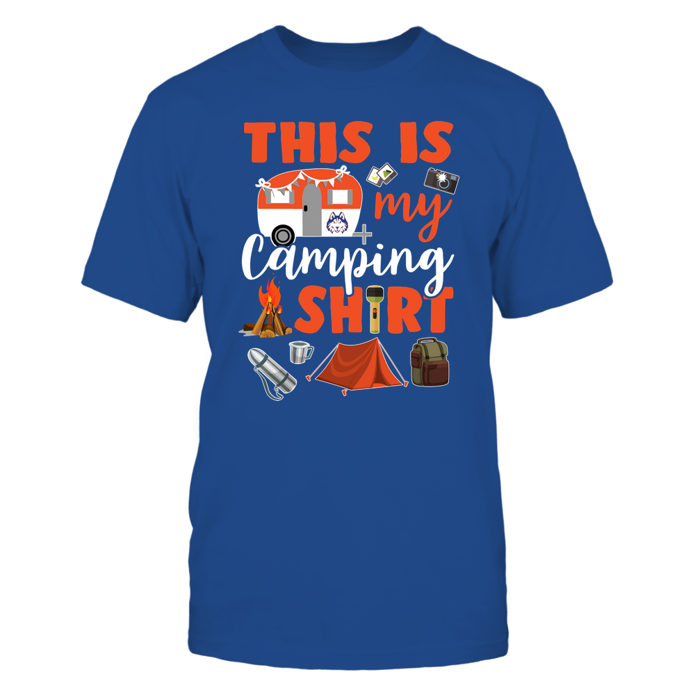 Houston Baptist Huskies - This Is My Camping Shirt Front picture