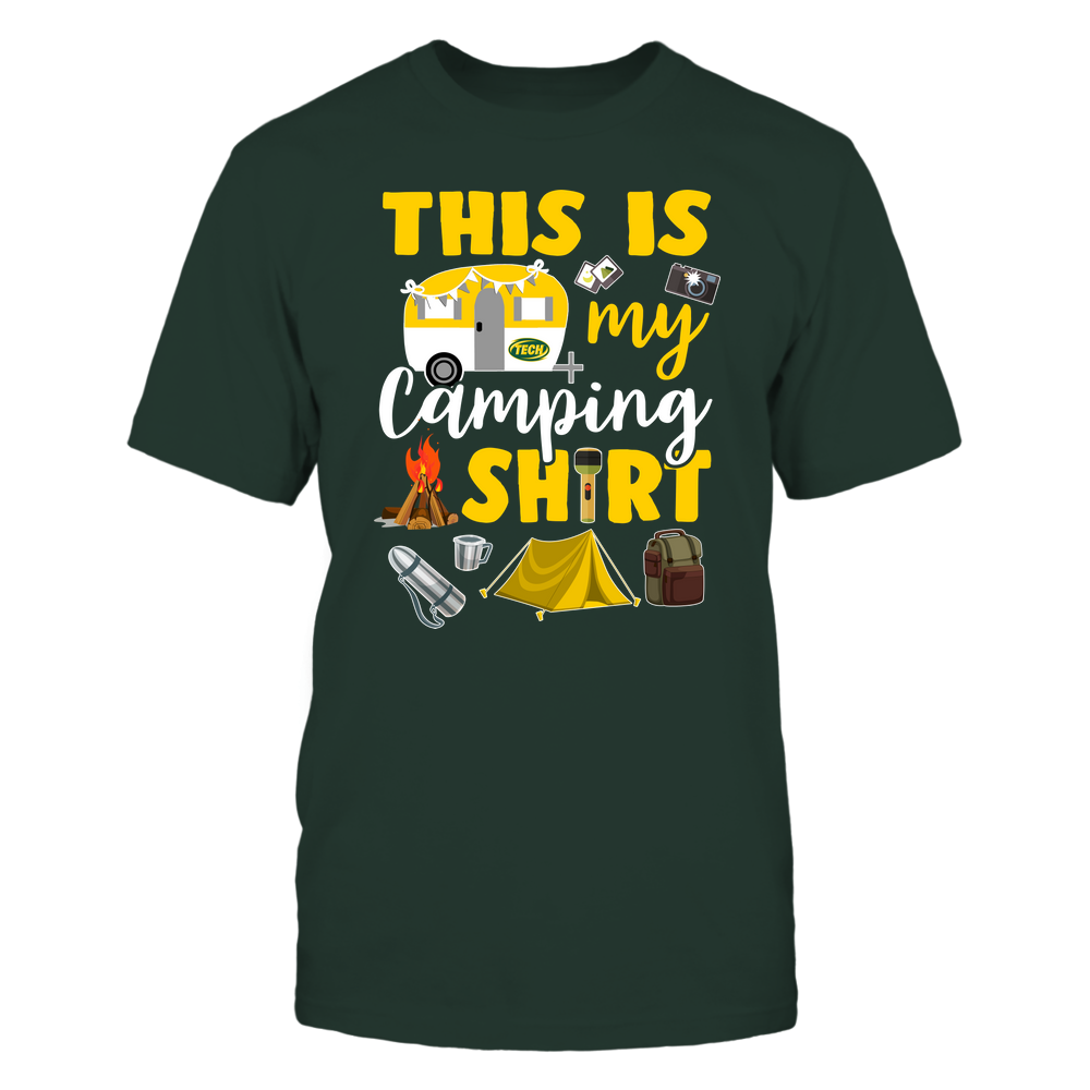 Arkansas Tech Golden Suns - This Is My Camping Shirt Front picture