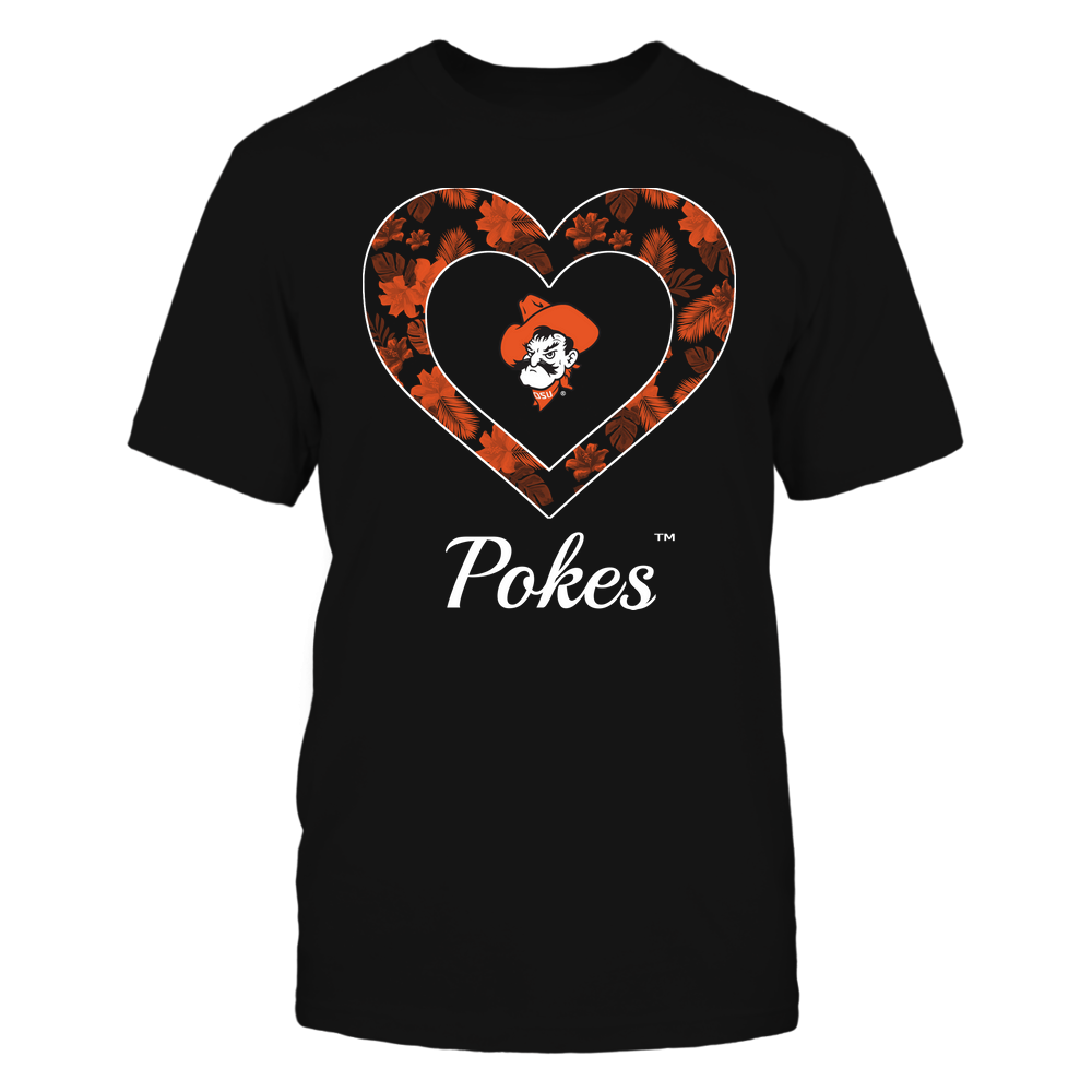 Oklahoma State Cowboys - Patterned Heart Front picture