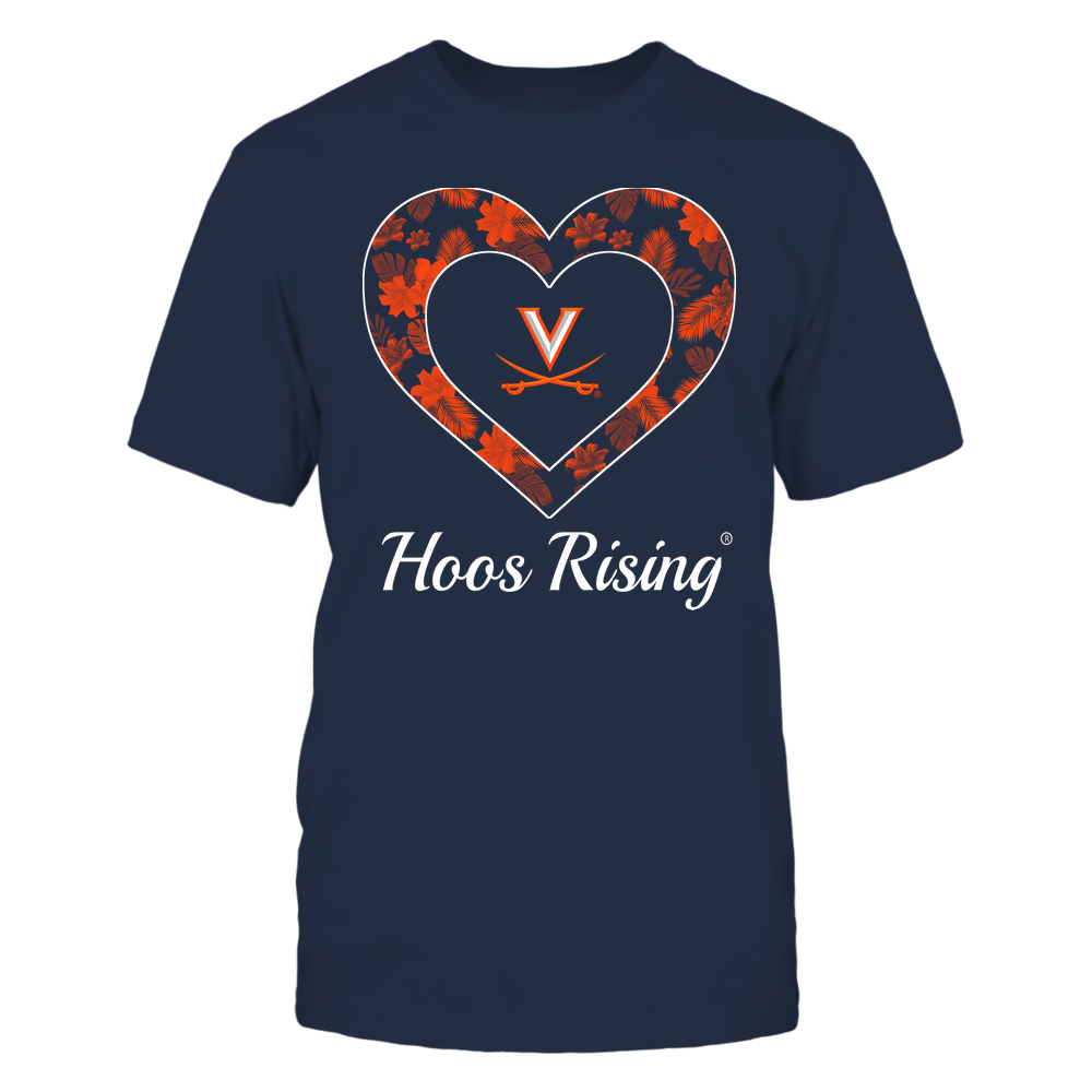 Virginia Cavaliers - Patterned Heart Front picture