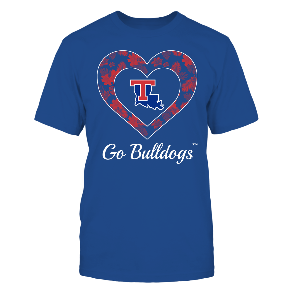 Louisiana Tech Bulldogs - Patterned Heart Front picture