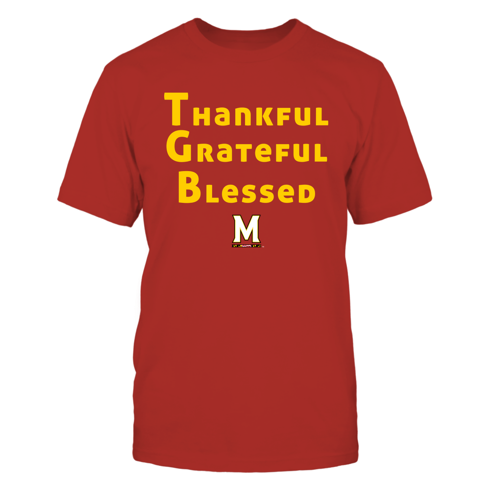 Maryland Terrapins - Thankful Grateful Blessed Front picture