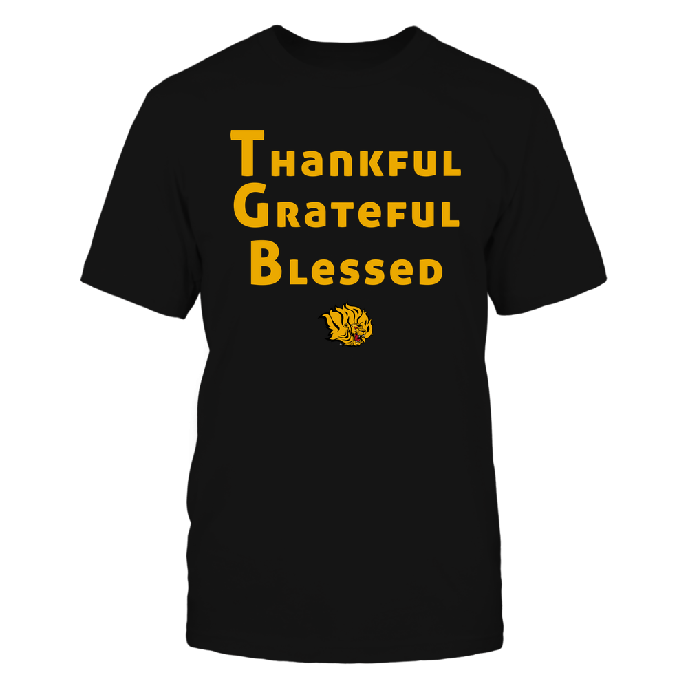 Arkansas Pine Bluff Golden Lions - Thankful Grateful Blessed Front picture