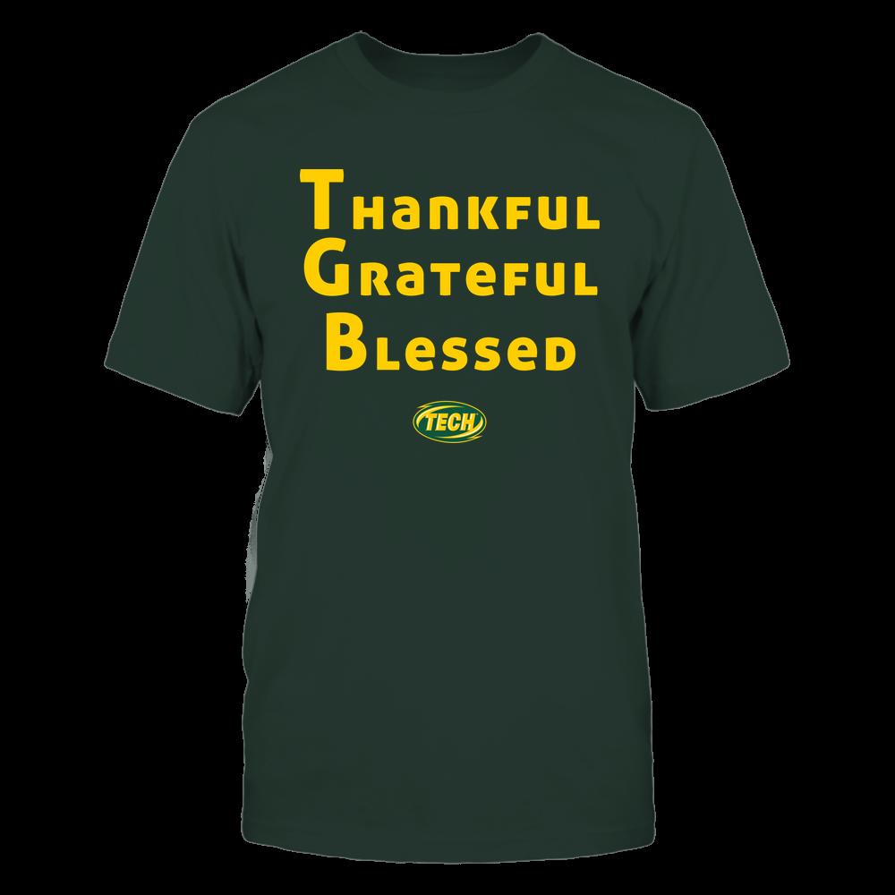 Arkansas Tech Golden Suns - Thankful Grateful Blessed Front picture