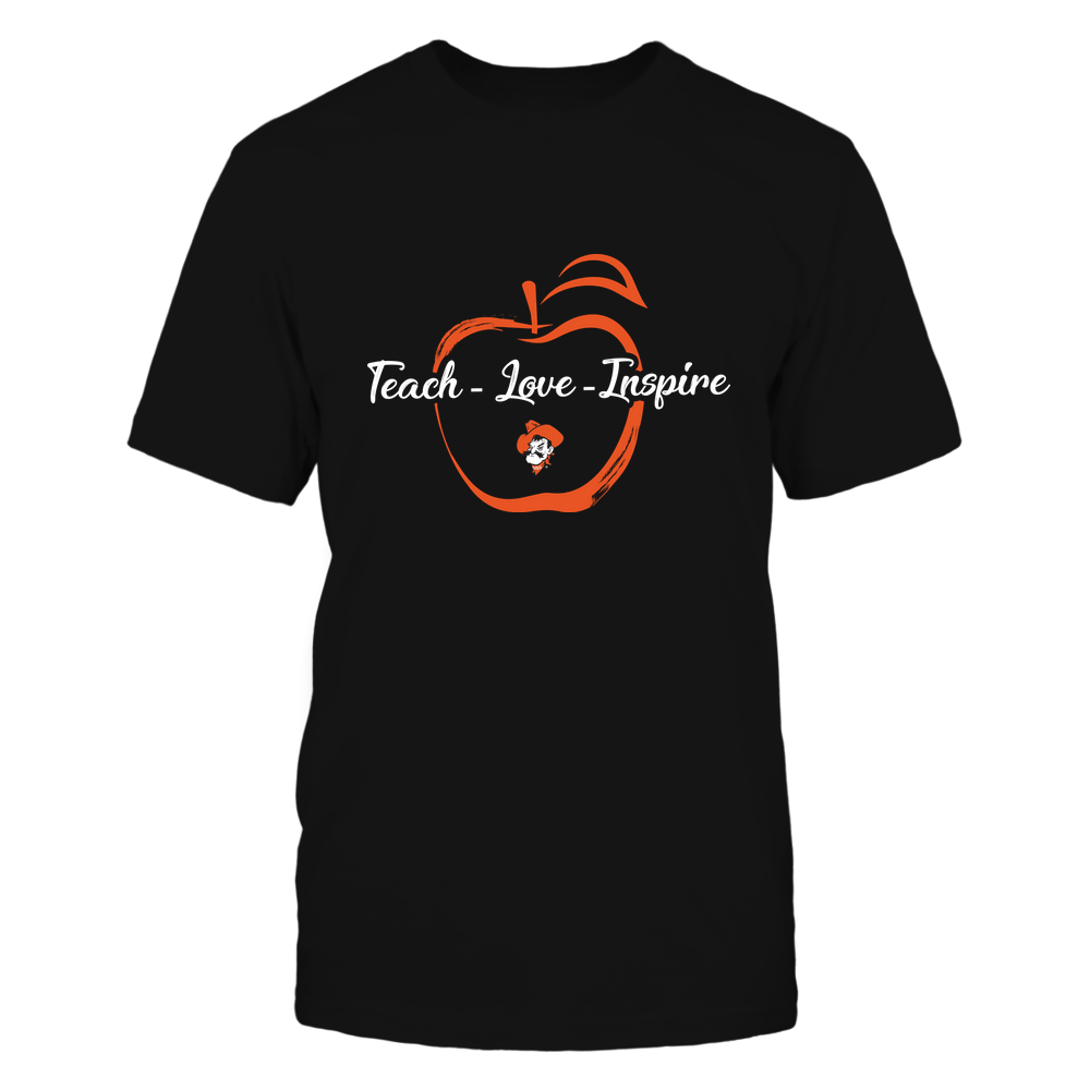 Oklahoma State Cowboys - Teach Love Inspire - Apple Brush Stroke Front picture