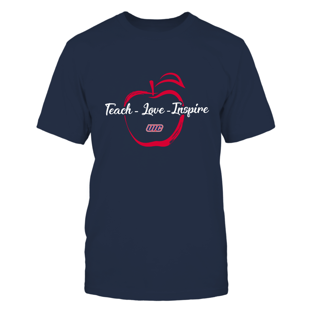 UIC Flames - Teach Love Inspire - Apple Brush Stroke Front picture