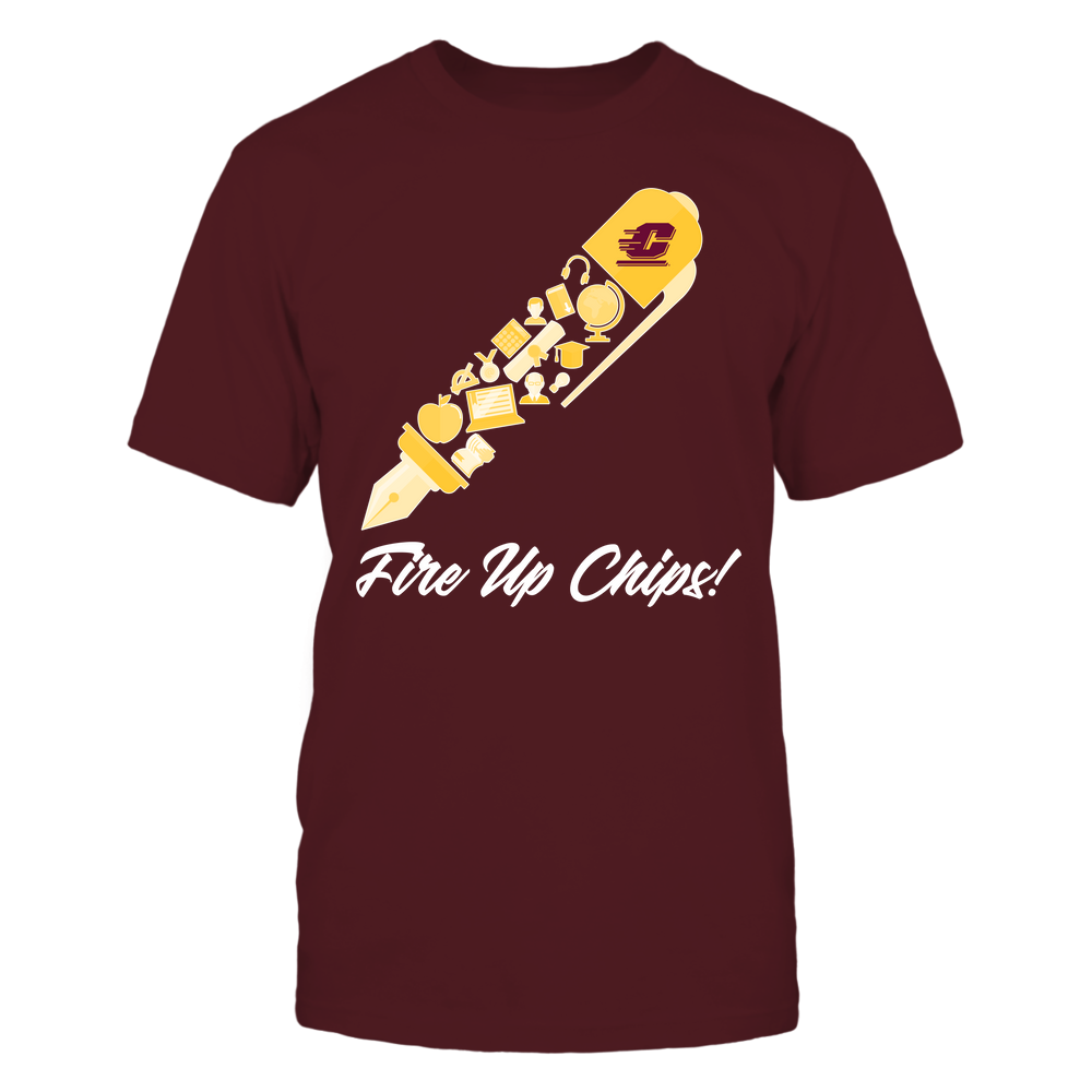 Central Michigan Chippewas - Teacher - Slogan By Pen Front picture