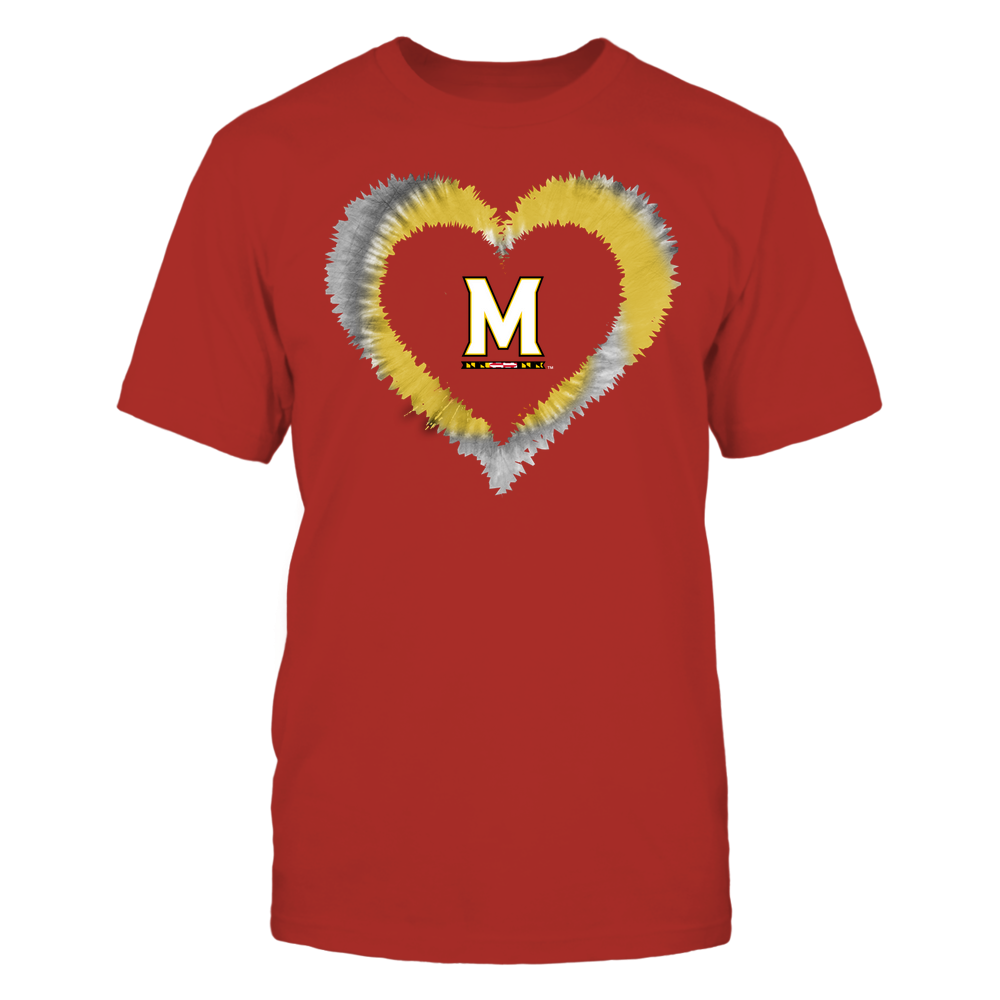 Maryland Terrapins - Tie-Dye Heart Shape Front picture