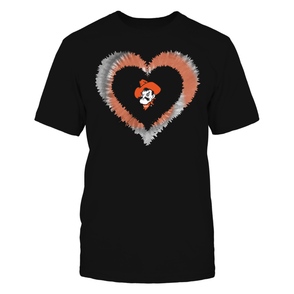 Oklahoma State Cowboys - Tie-Dye Heart Shape Front picture