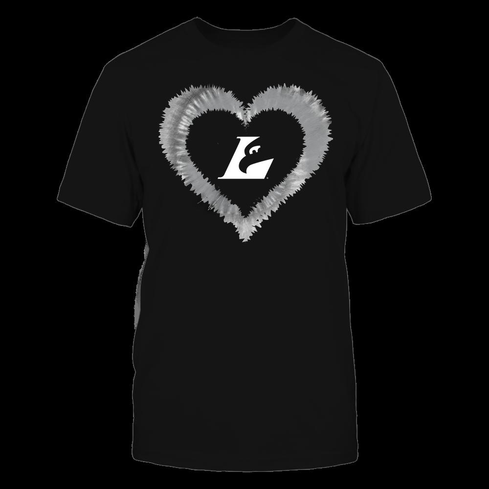 Wisconsin-La Crosse Eagles - Tie-Dye Heart Shape Front picture