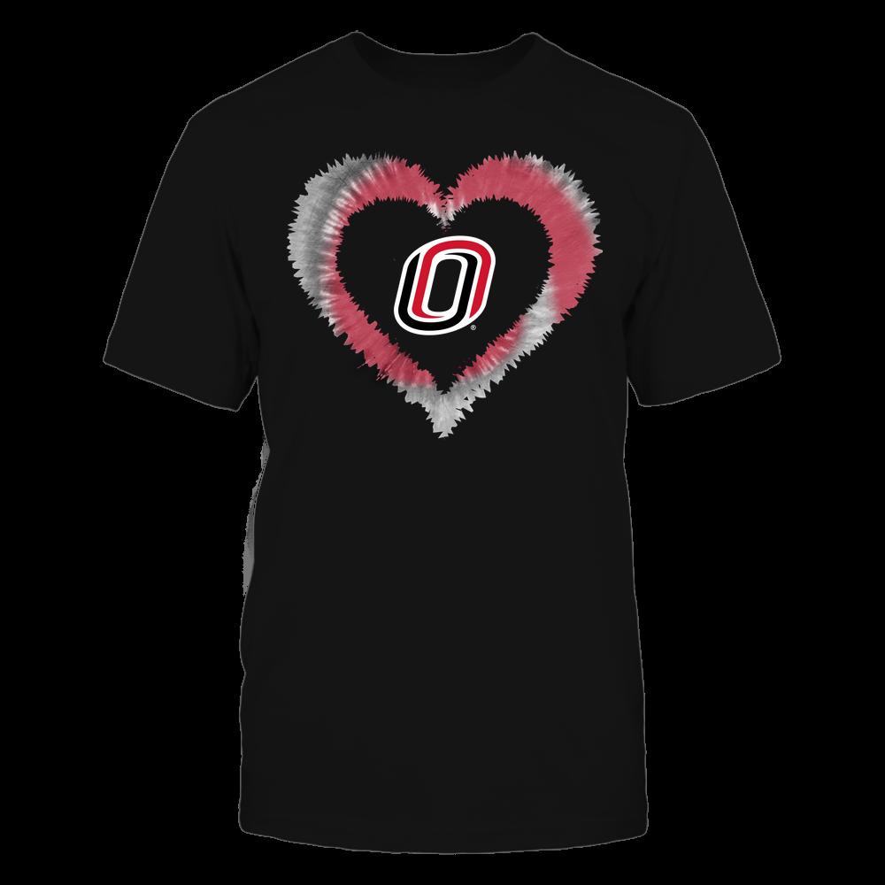 Nebraska Omaha Mavericks - Tie-Dye Heart Shape Front picture