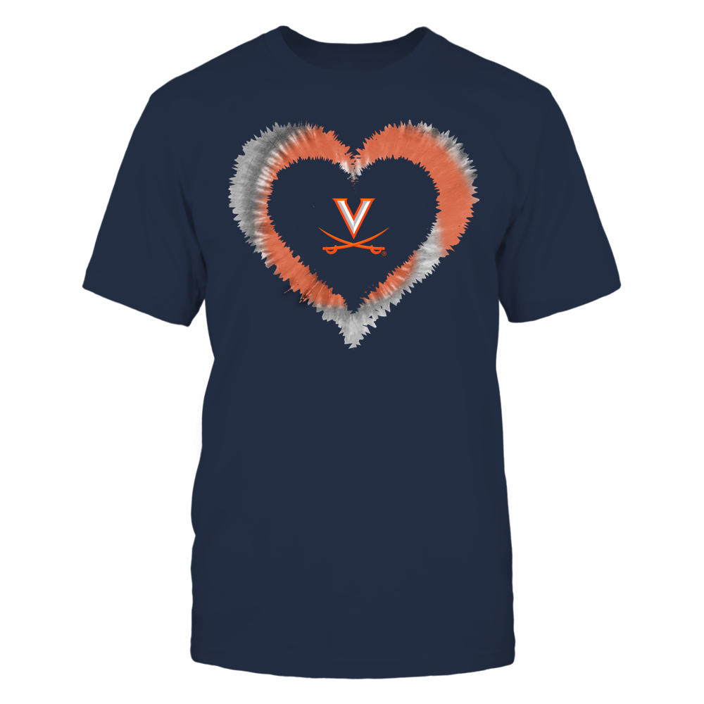 Virginia Cavaliers - Tie-Dye Heart Shape Front picture